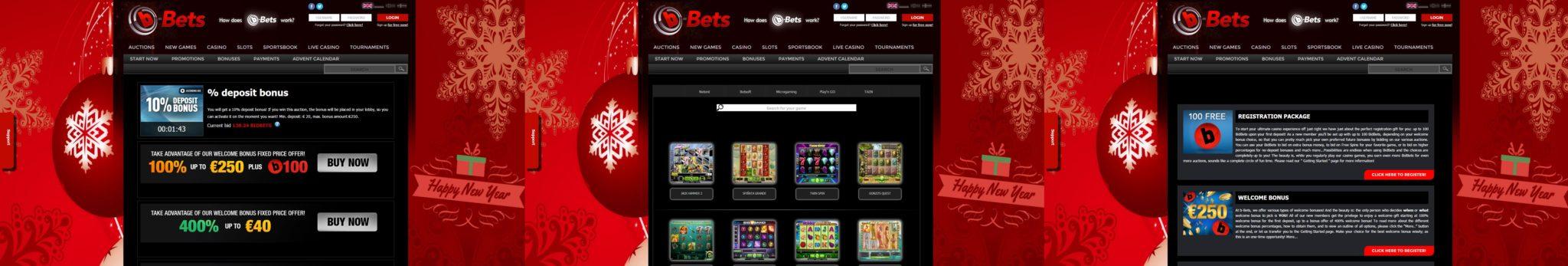 b-Bets screens