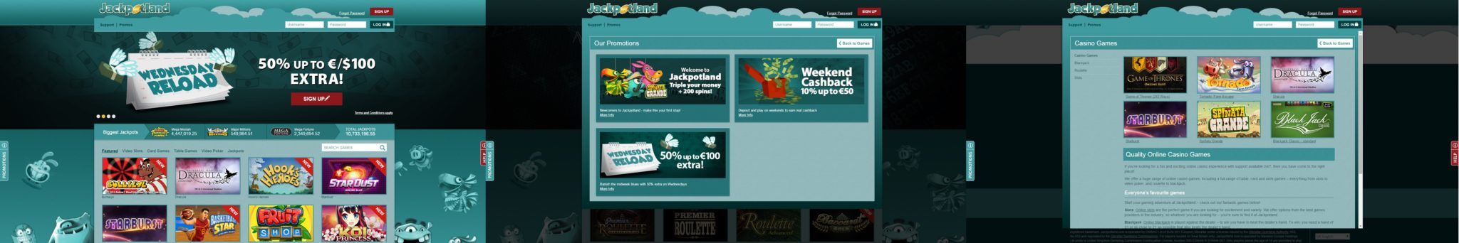 jackpotland casino_screens