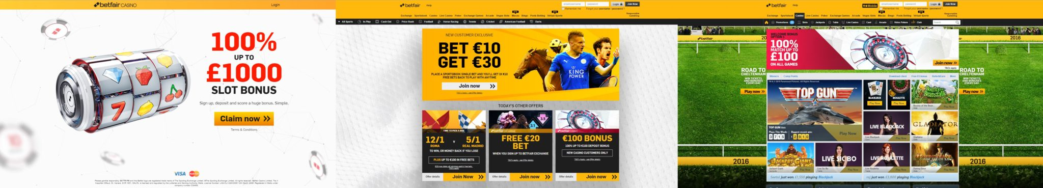 betfair screens