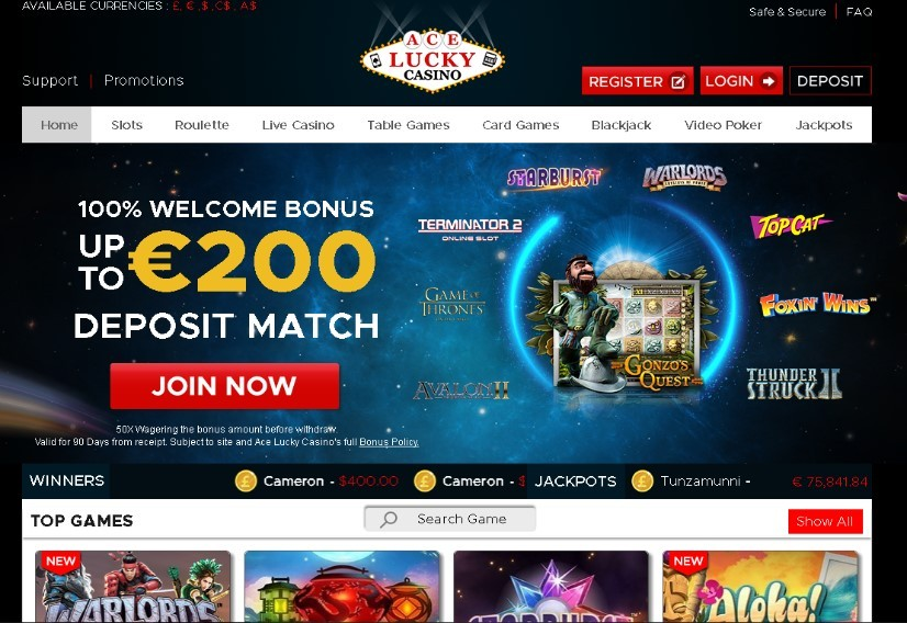 Visit Ace Lucky Casino
