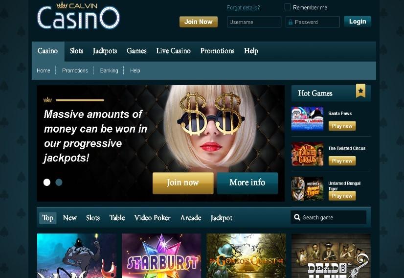 Play at Calvin Casino