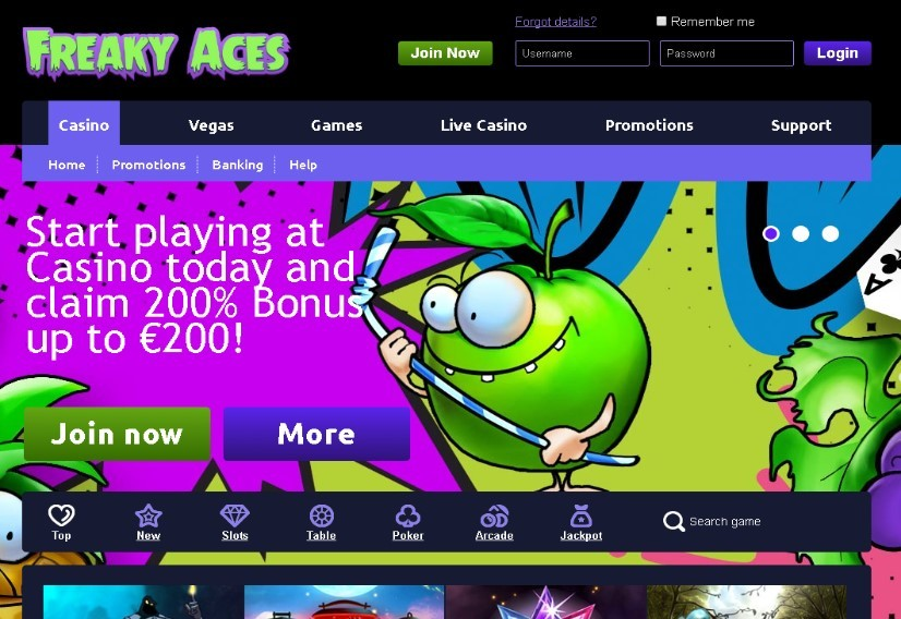 Visit Freaky Aces Casino