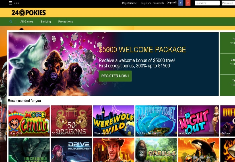 24 pokies online casino