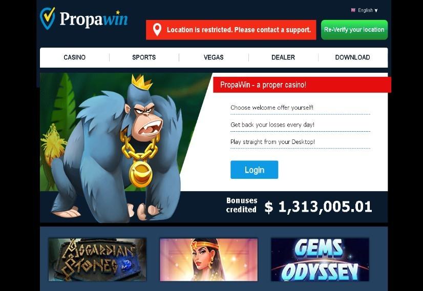 Visit PropaWin Casino