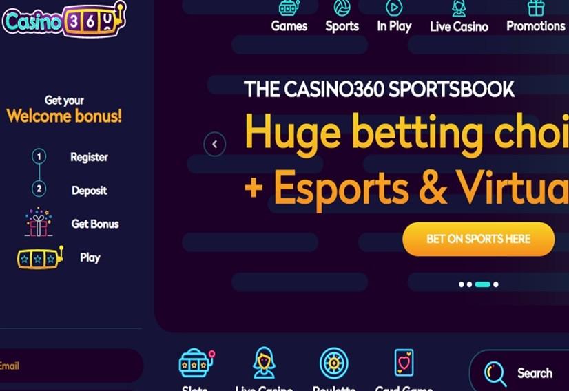 Casino's site screenshot