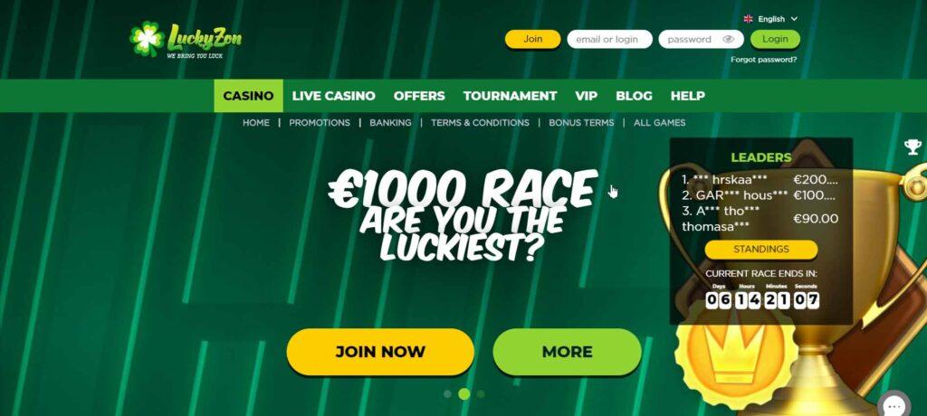 luckyzon site